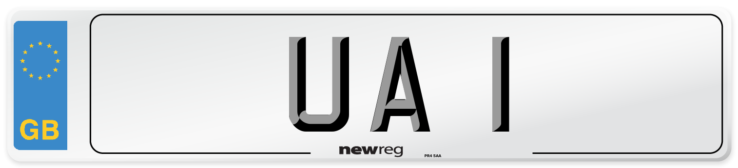 UA 1 Number Plate from New Reg