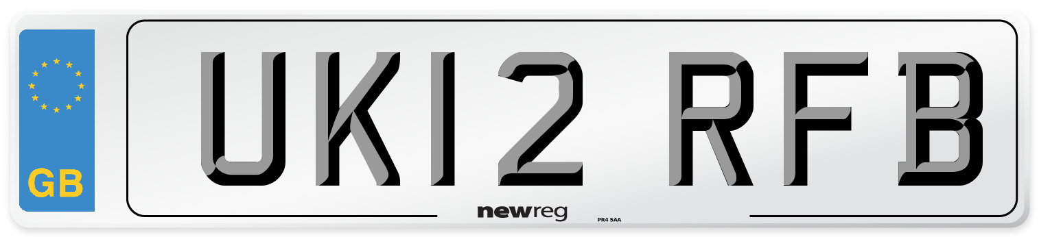 UK12 RFB Number Plate from New Reg