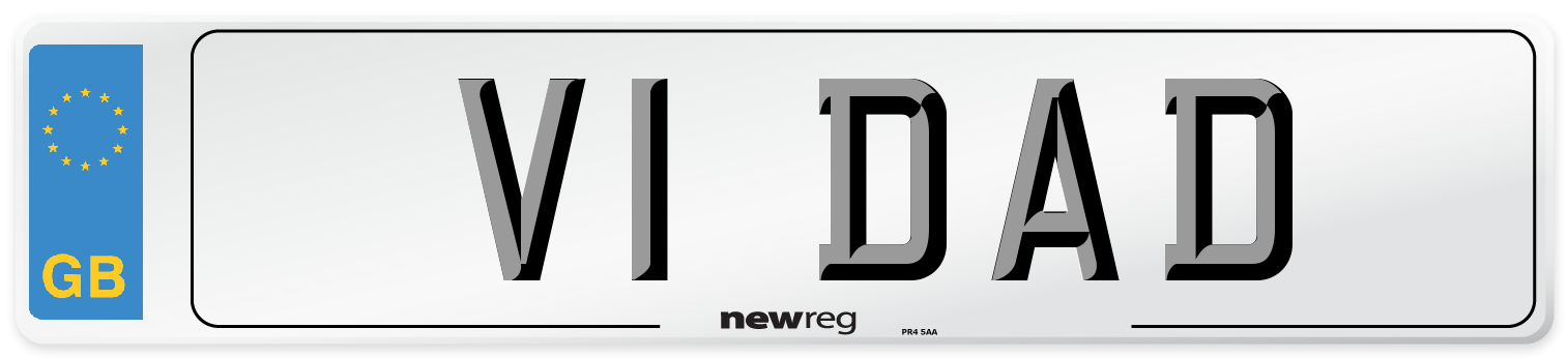 V1 DAD Number Plate from New Reg