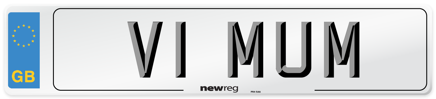V1 MUM Number Plate from New Reg