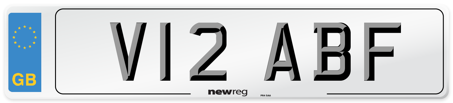 V12 ABF Number Plate from New Reg