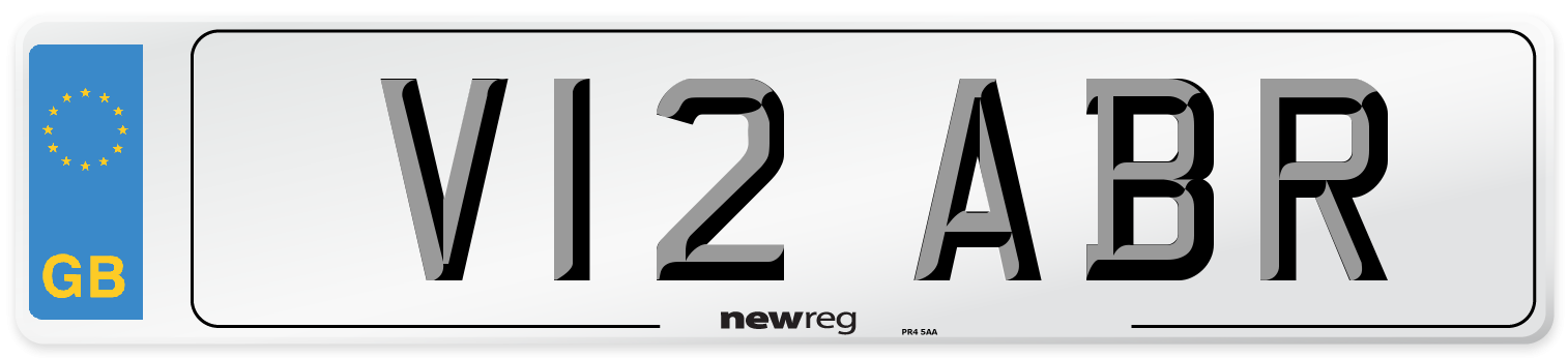 V12 ABR Number Plate from New Reg