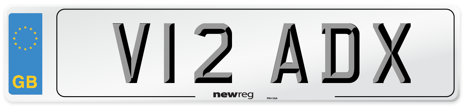 V12 ADX Number Plate from New Reg