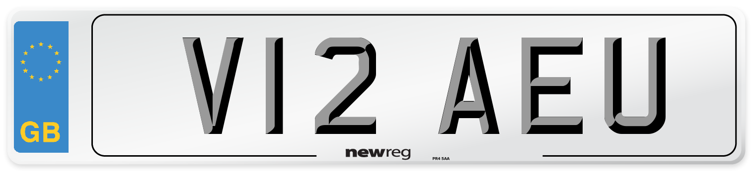 V12 AEU Number Plate from New Reg