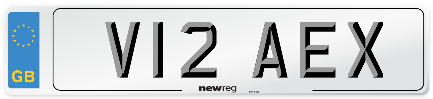 V12 AEX Number Plate from New Reg