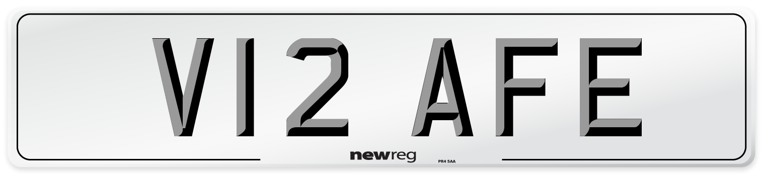 V12 AFE Number Plate from New Reg