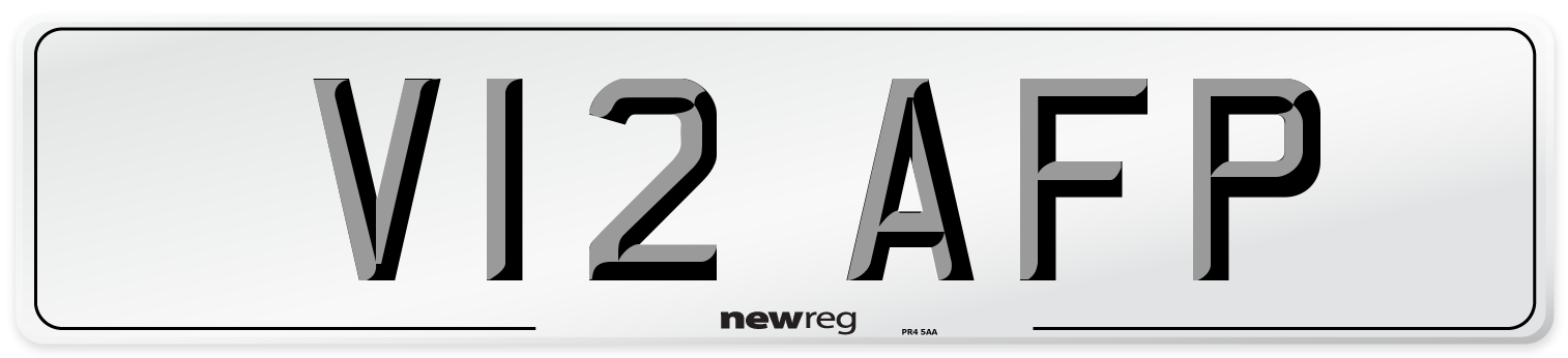 V12 AFP Number Plate from New Reg