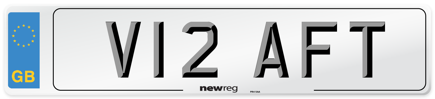 V12 AFT Number Plate from New Reg