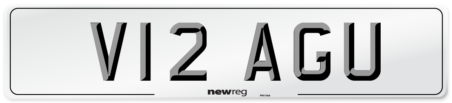 V12 AGU Number Plate from New Reg