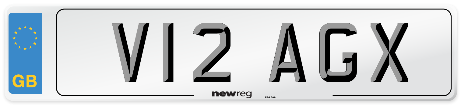 V12 AGX Number Plate from New Reg