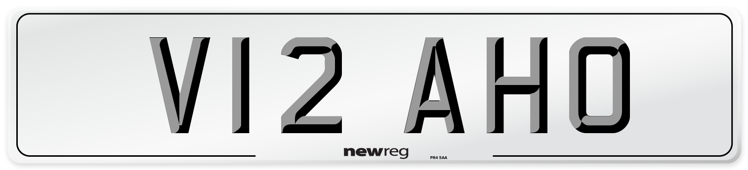 V12 AHO Number Plate from New Reg