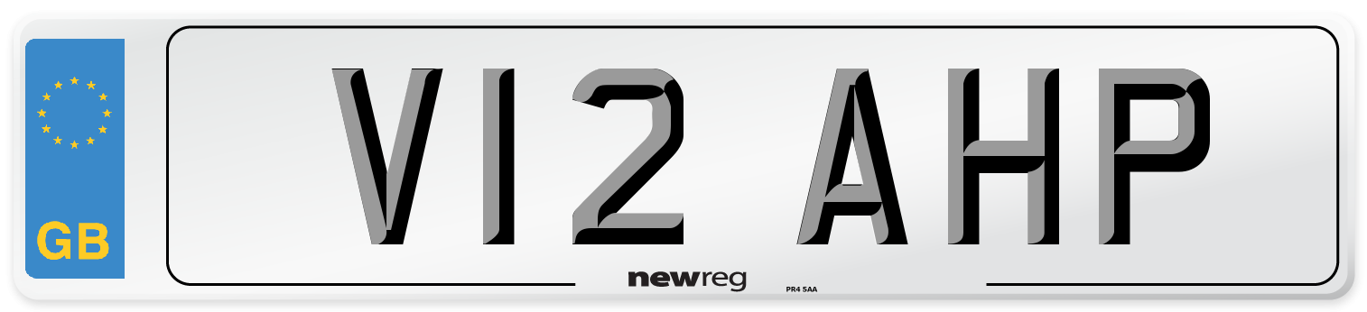 V12 AHP Number Plate from New Reg