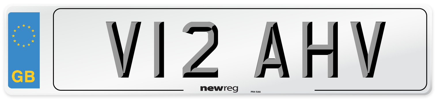 V12 AHV Number Plate from New Reg