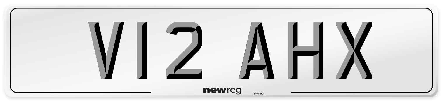 V12 AHX Number Plate from New Reg