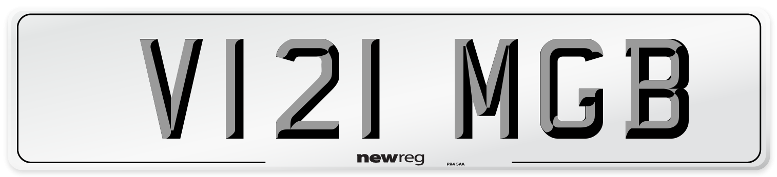 V121 MGB Number Plate from New Reg