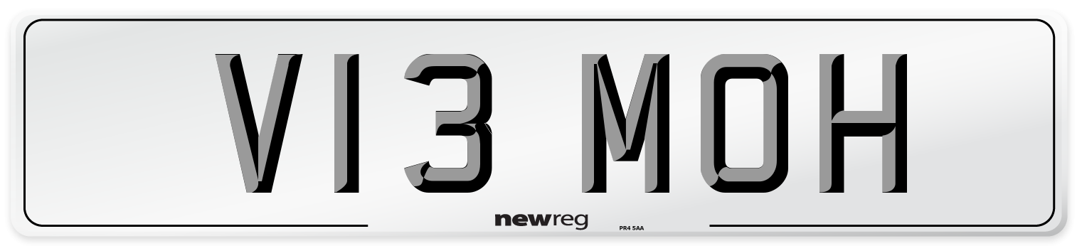 V13 MOH Number Plate from New Reg