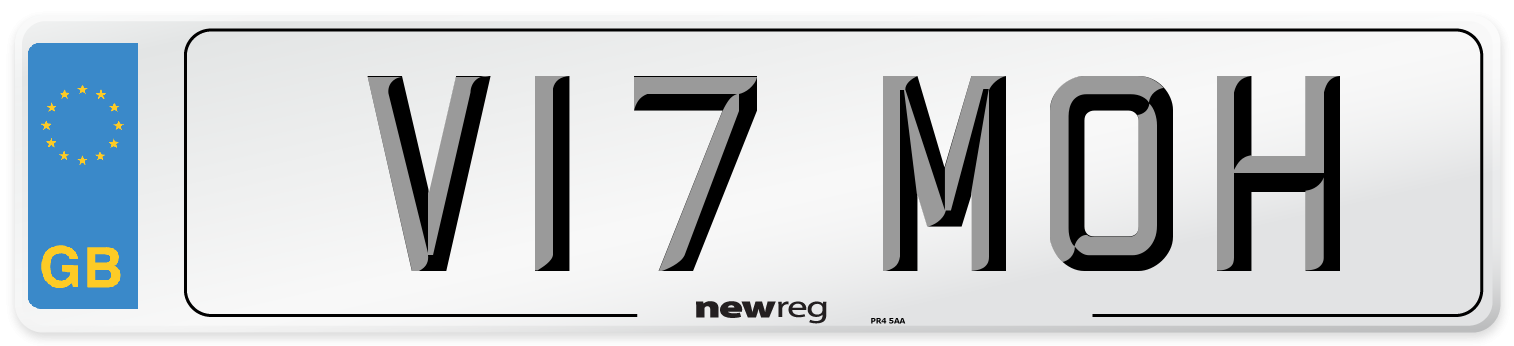 V17 MOH Number Plate from New Reg