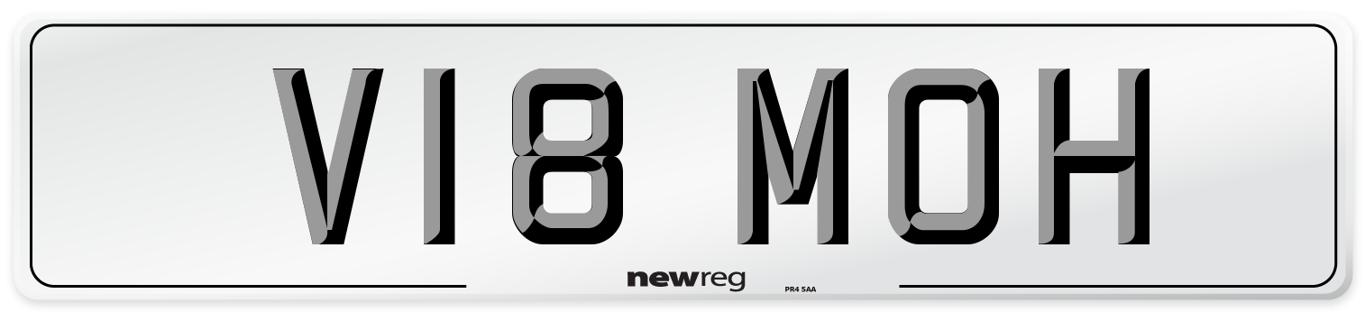 V18 MOH Number Plate from New Reg