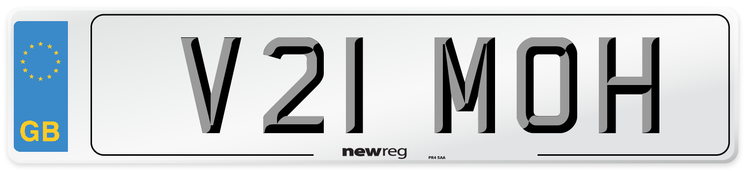 V21 MOH Number Plate from New Reg