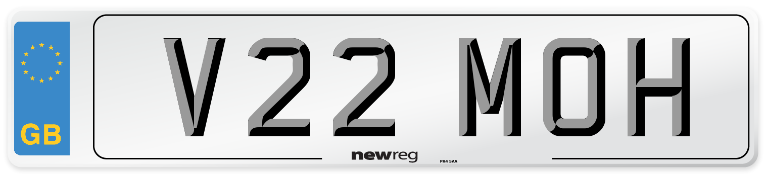 V22 MOH Number Plate from New Reg