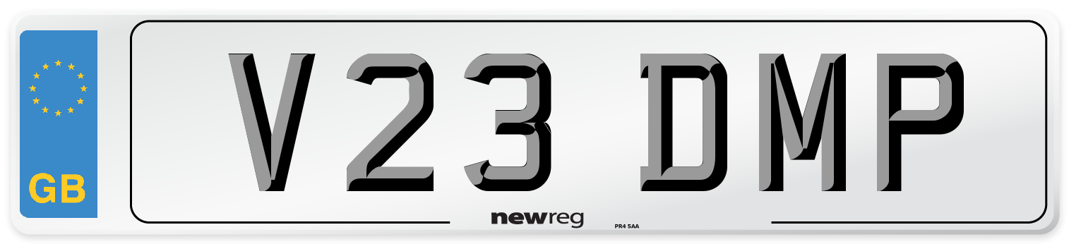 V23 DMP Number Plate from New Reg