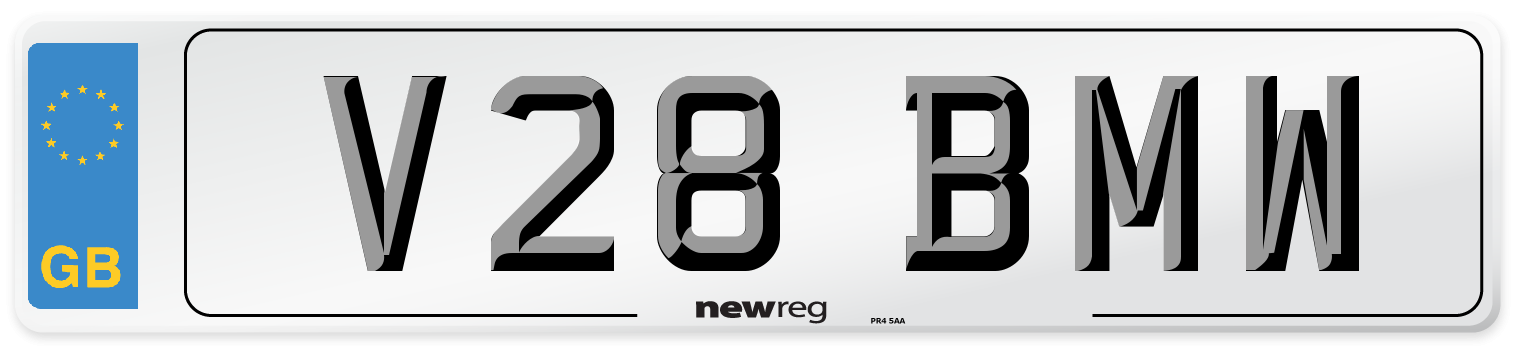 V28 BMW Number Plate from New Reg
