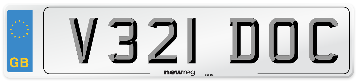 V321 DOC Number Plate from New Reg