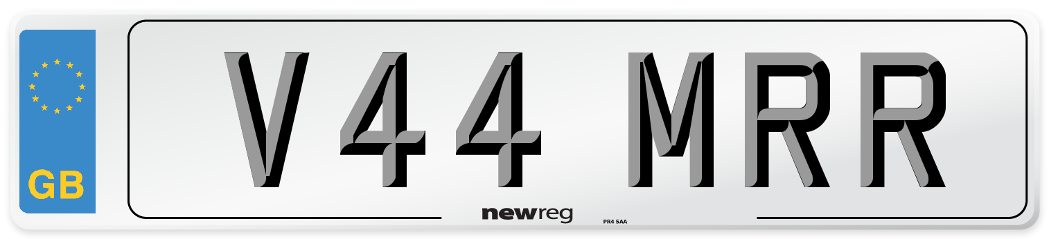 V44 MRR Number Plate from New Reg