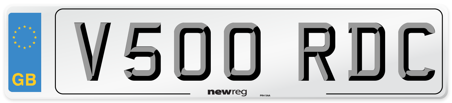 V500 RDC Number Plate from New Reg