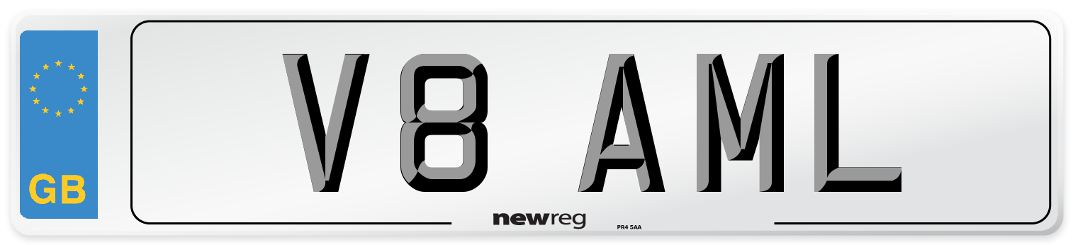 V8 AML Number Plate from New Reg