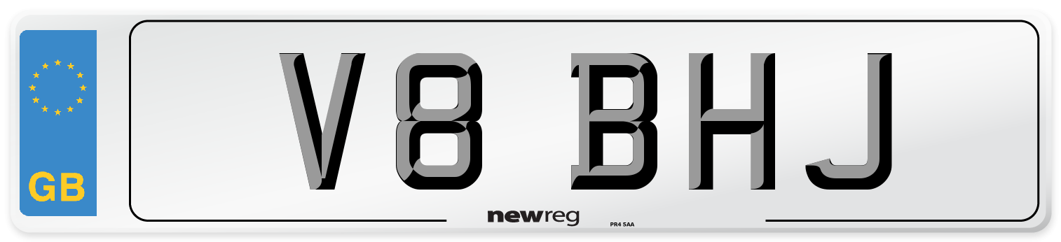 V8 BHJ Number Plate from New Reg