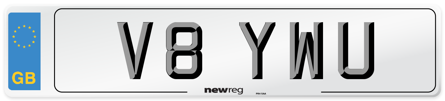 V8 YWU Number Plate from New Reg