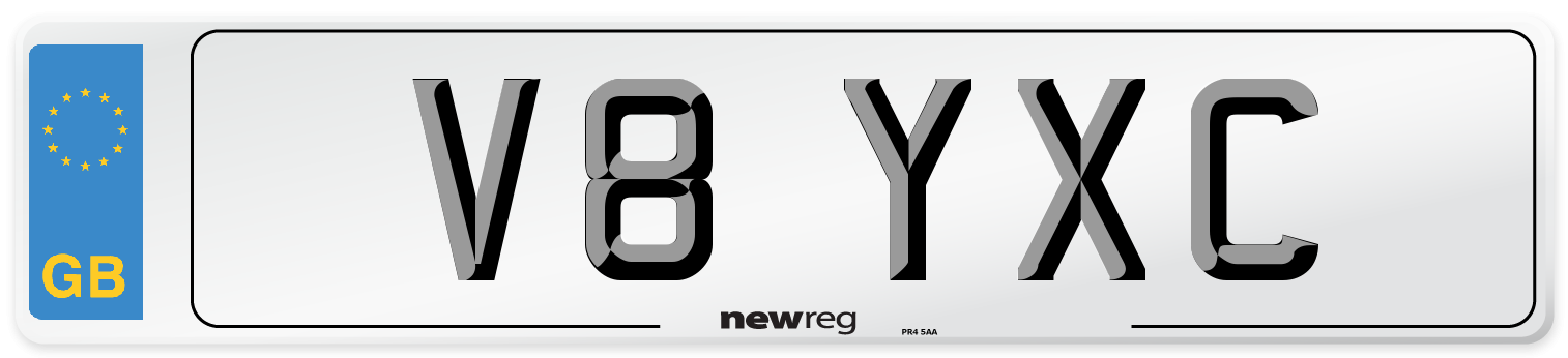 V8 YXC Number Plate from New Reg