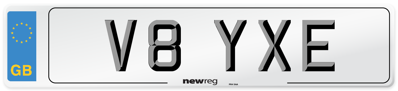 V8 YXE Number Plate from New Reg