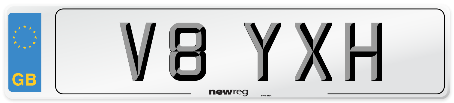 V8 YXH Number Plate from New Reg