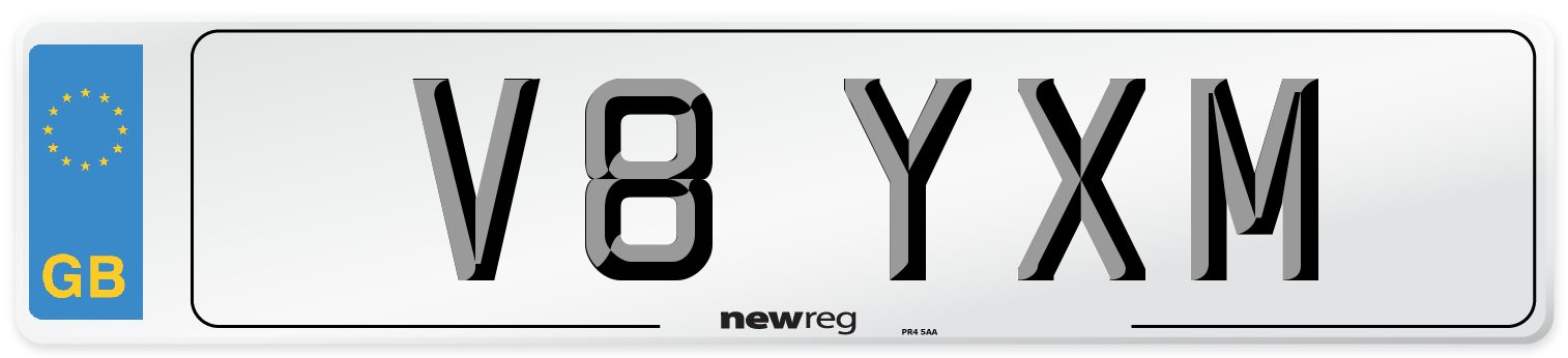 V8 YXM Number Plate from New Reg