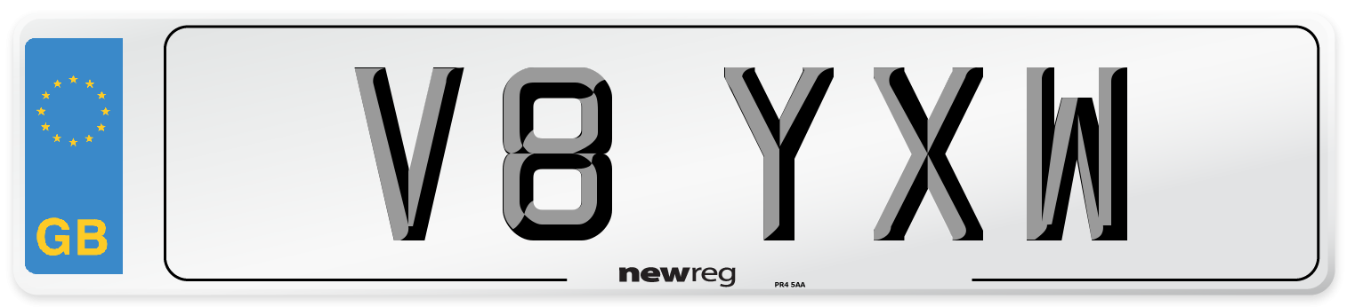 V8 YXW Number Plate from New Reg