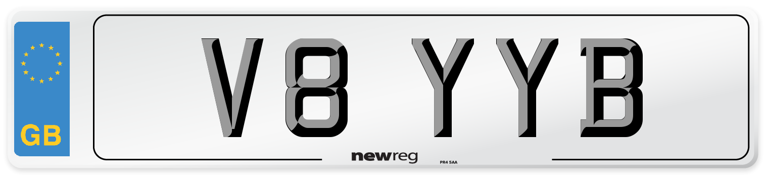 V8 YYB Number Plate from New Reg
