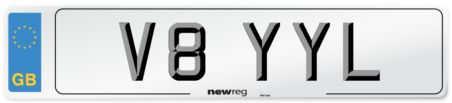 V8 YYL Number Plate from New Reg