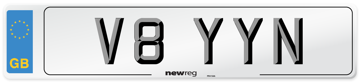 V8 YYN Number Plate from New Reg
