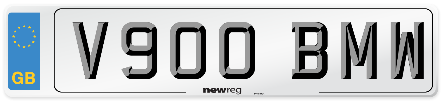 V900 BMW Number Plate from New Reg