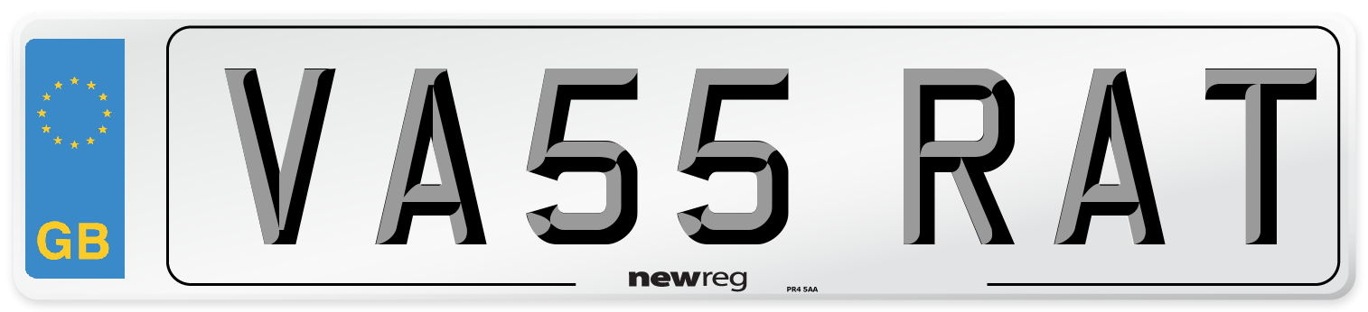 VA55 RAT Number Plate from New Reg