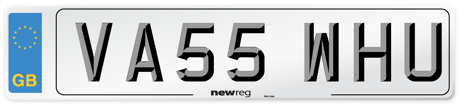 VA55 WHU Number Plate from New Reg
