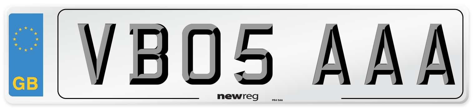 VB05 AAA Number Plate from New Reg