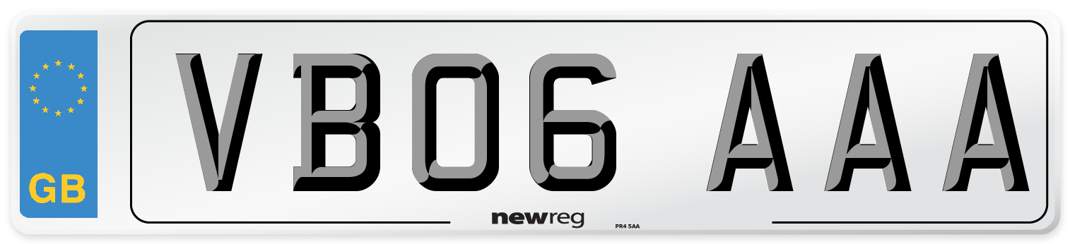 VB06 AAA Number Plate from New Reg