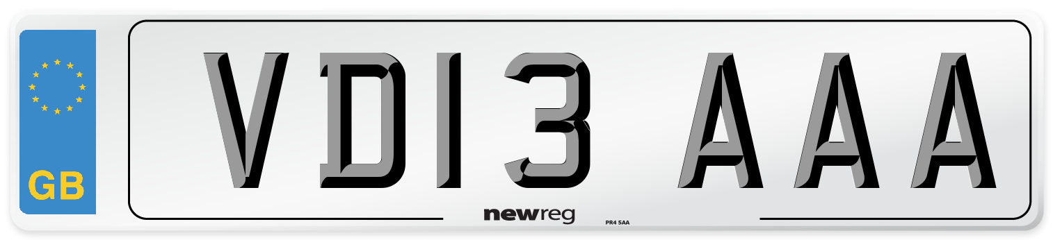 VD13 AAA Number Plate from New Reg