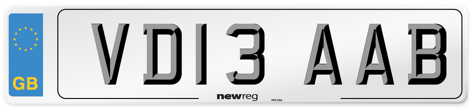 VD13 AAB Number Plate from New Reg