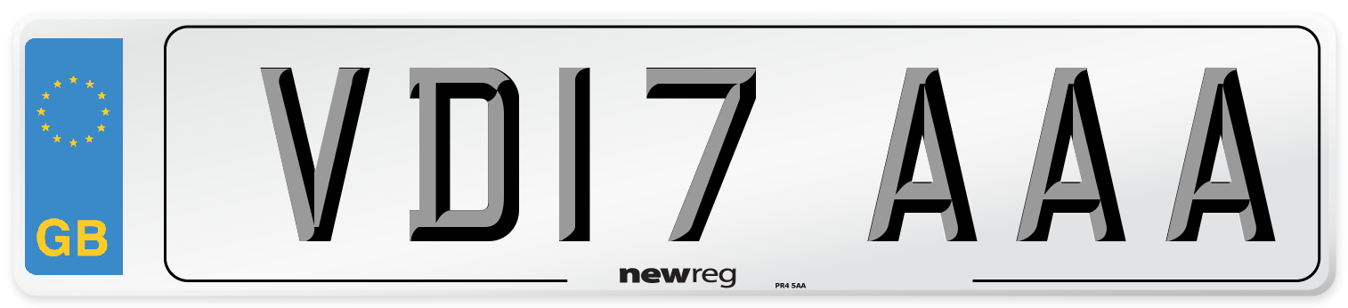 VD17 AAA Number Plate from New Reg