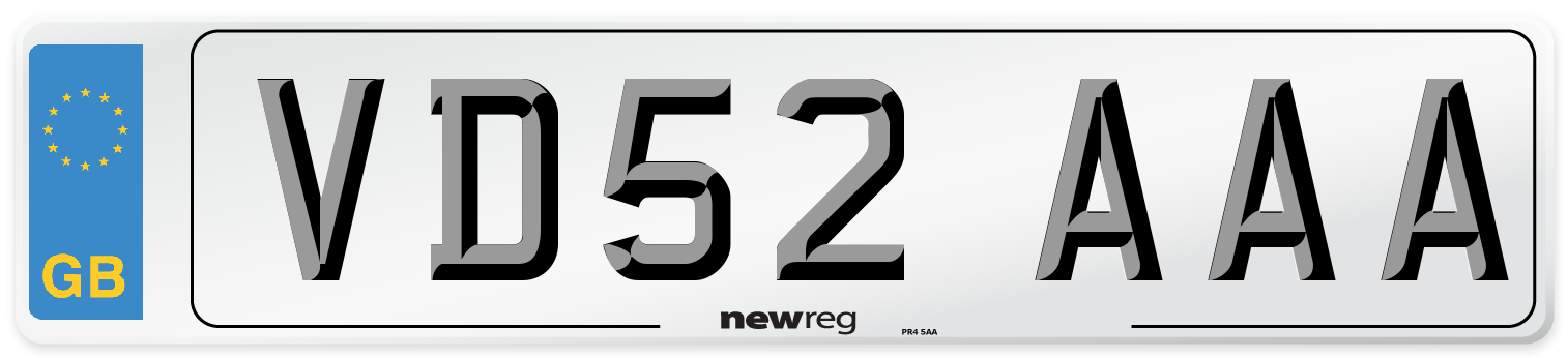 VD52 AAA Number Plate from New Reg