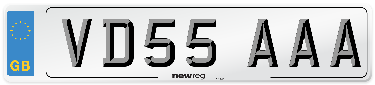 VD55 AAA Number Plate from New Reg